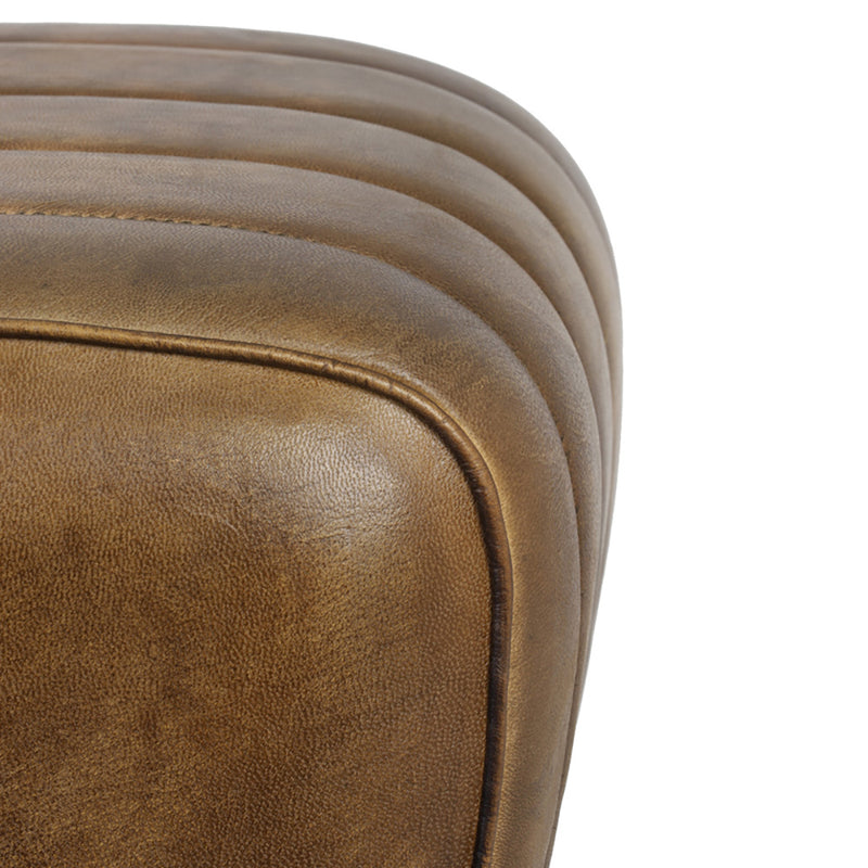 Stitched Leather Foot Stool