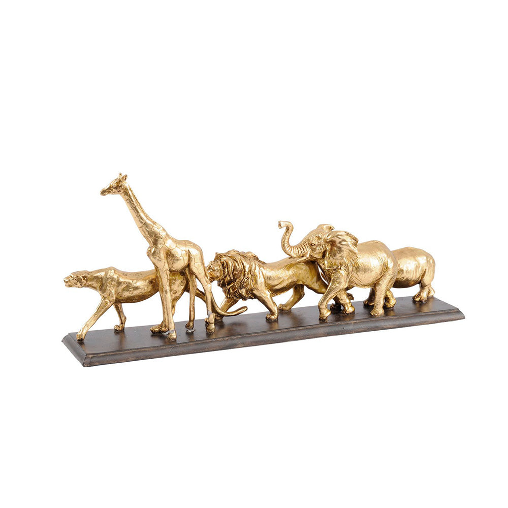 Golden Safari Sculpture