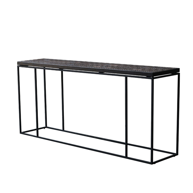 Antix Console Table with simple black frame and legs