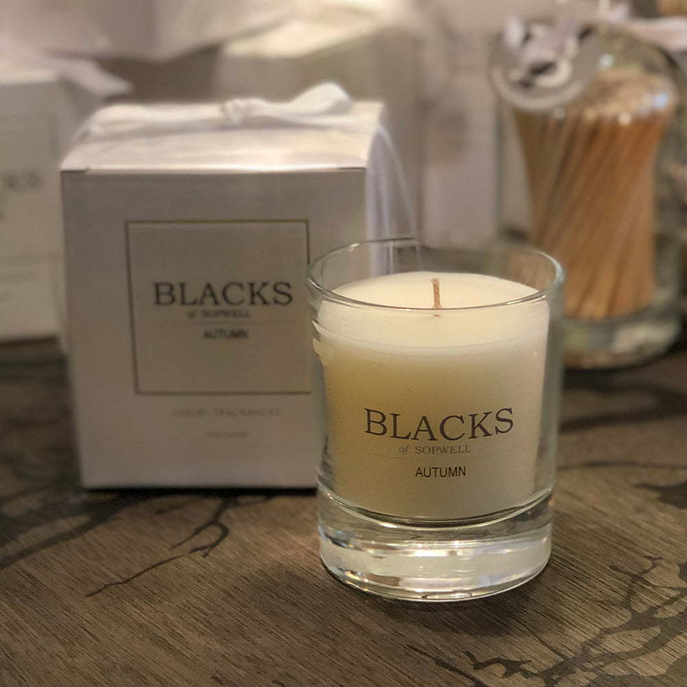 Blacks Autumn Candle out of box