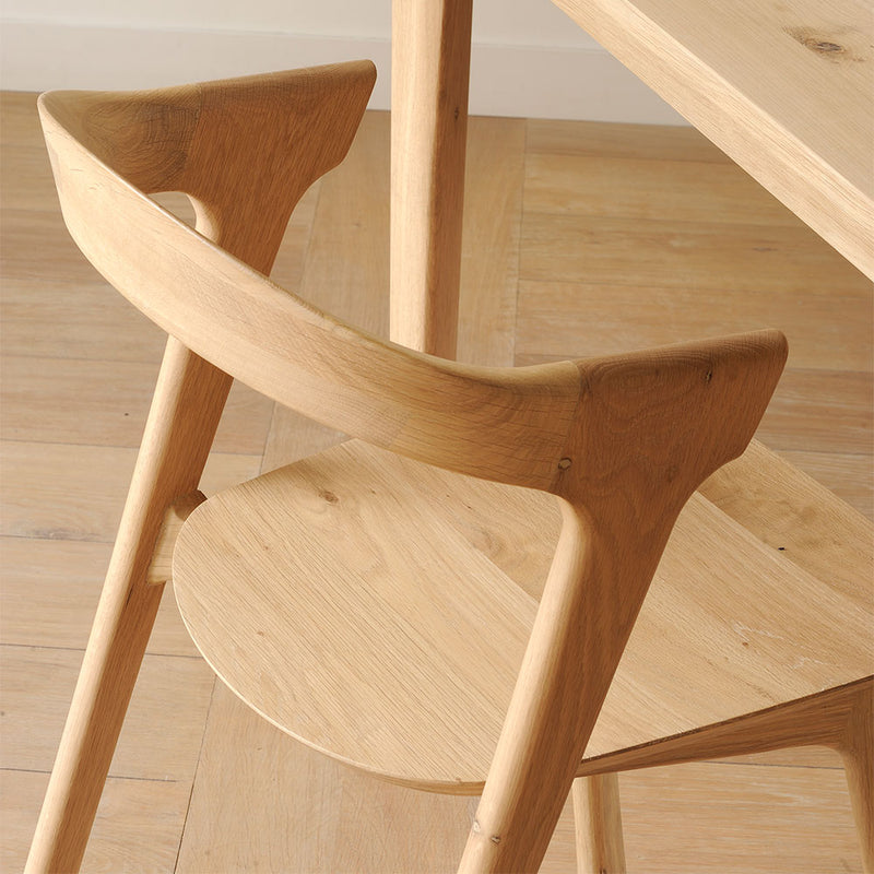 back view of B1 chair, tactile rounded edges.