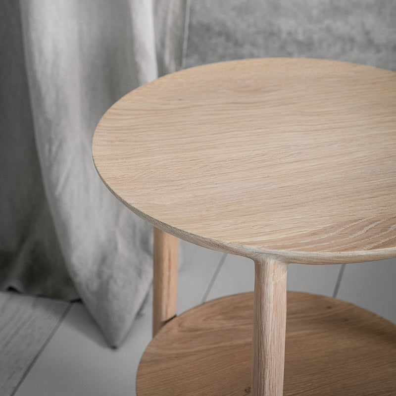 Detail of B1 side table tapered edge.
