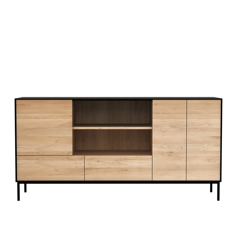 Bb open front shelf storage, flat front, handle less design.