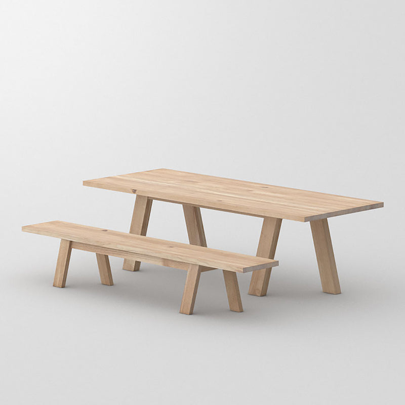Dash table and bench in light osmo oil oak