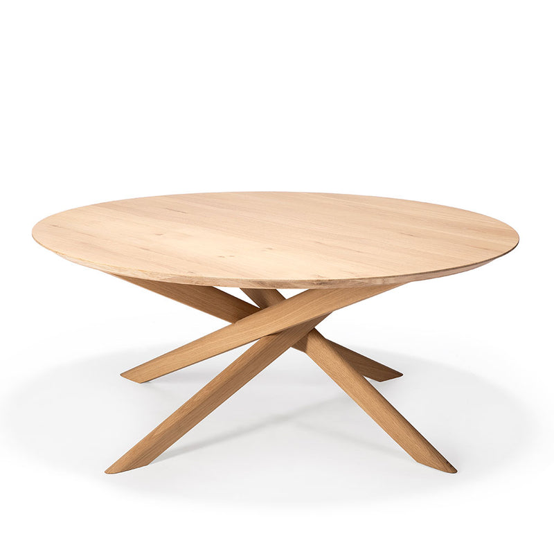 Elements Oak Oval Coffee Table