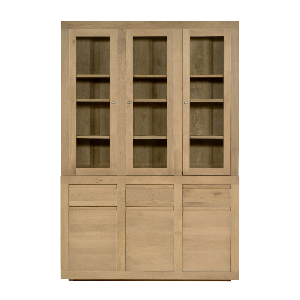Oak Flat Dresser Display Cabinet