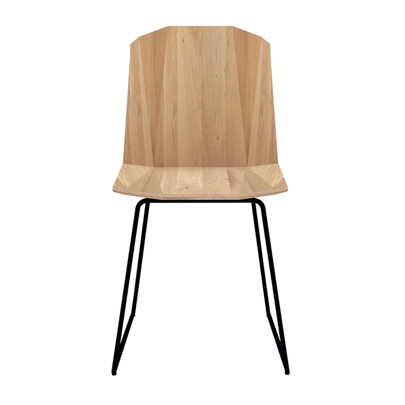 Oak Facette Dining chair in light oil with black legs