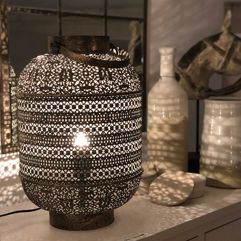 Filigree Drum Table lamp