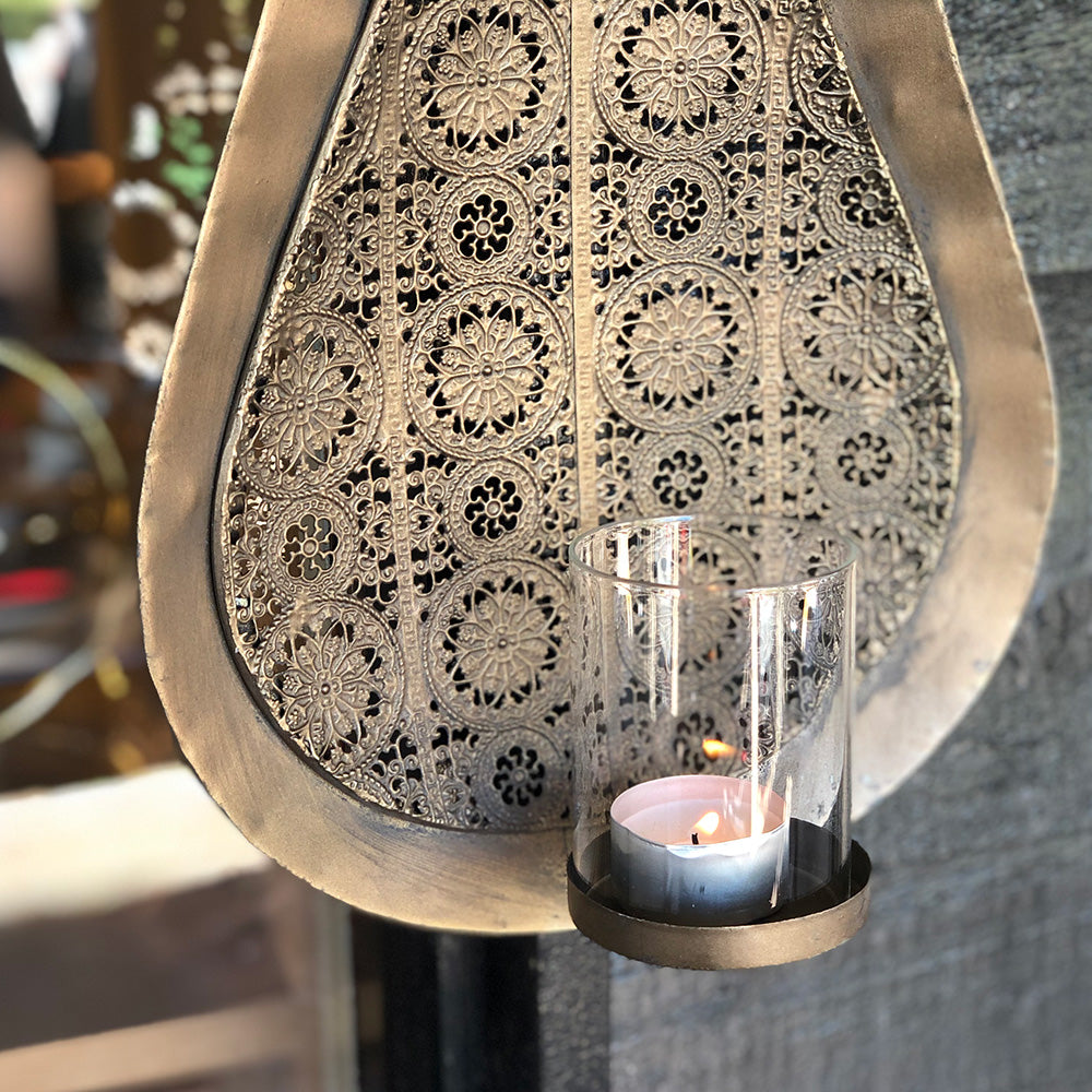 Filigree Teardrop Wall Sconce