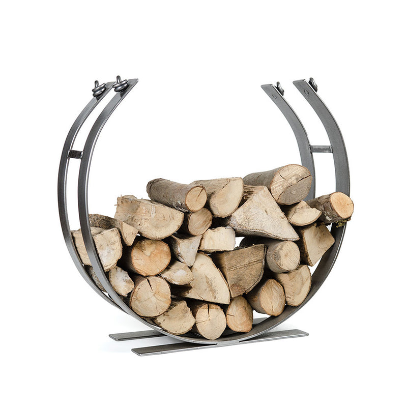 Metal large round indoor log store