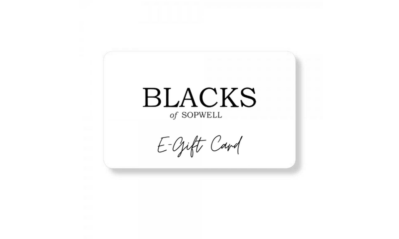 blacks of sopwell e-gift card with logo