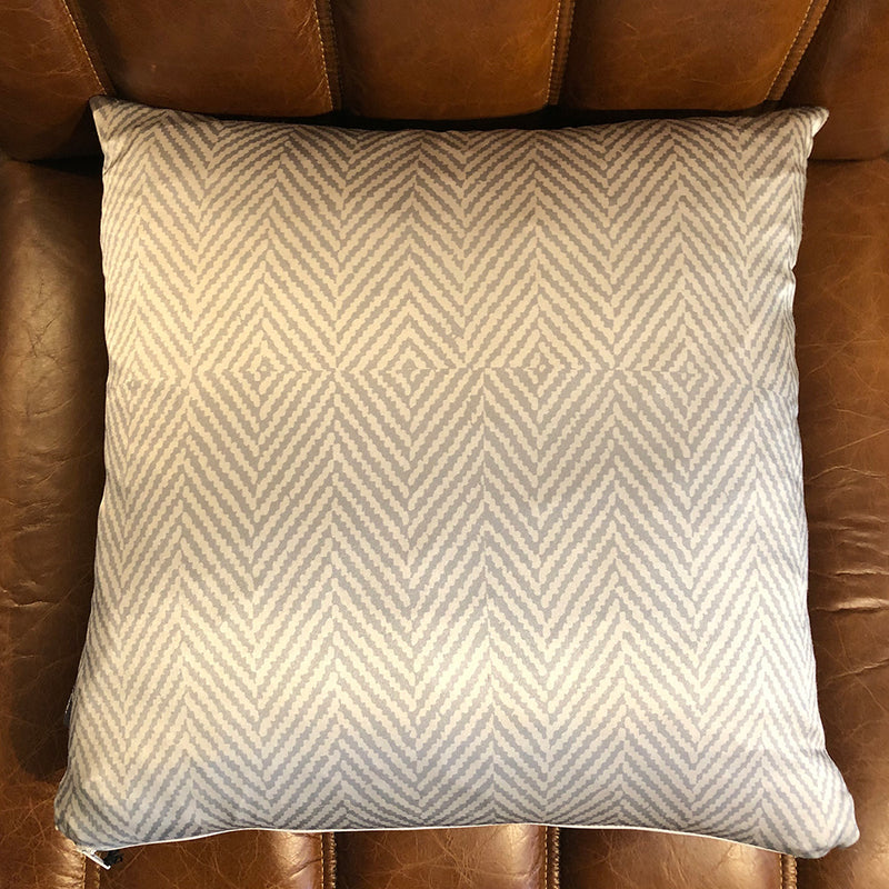 Olivia Grey Silk Cushion
