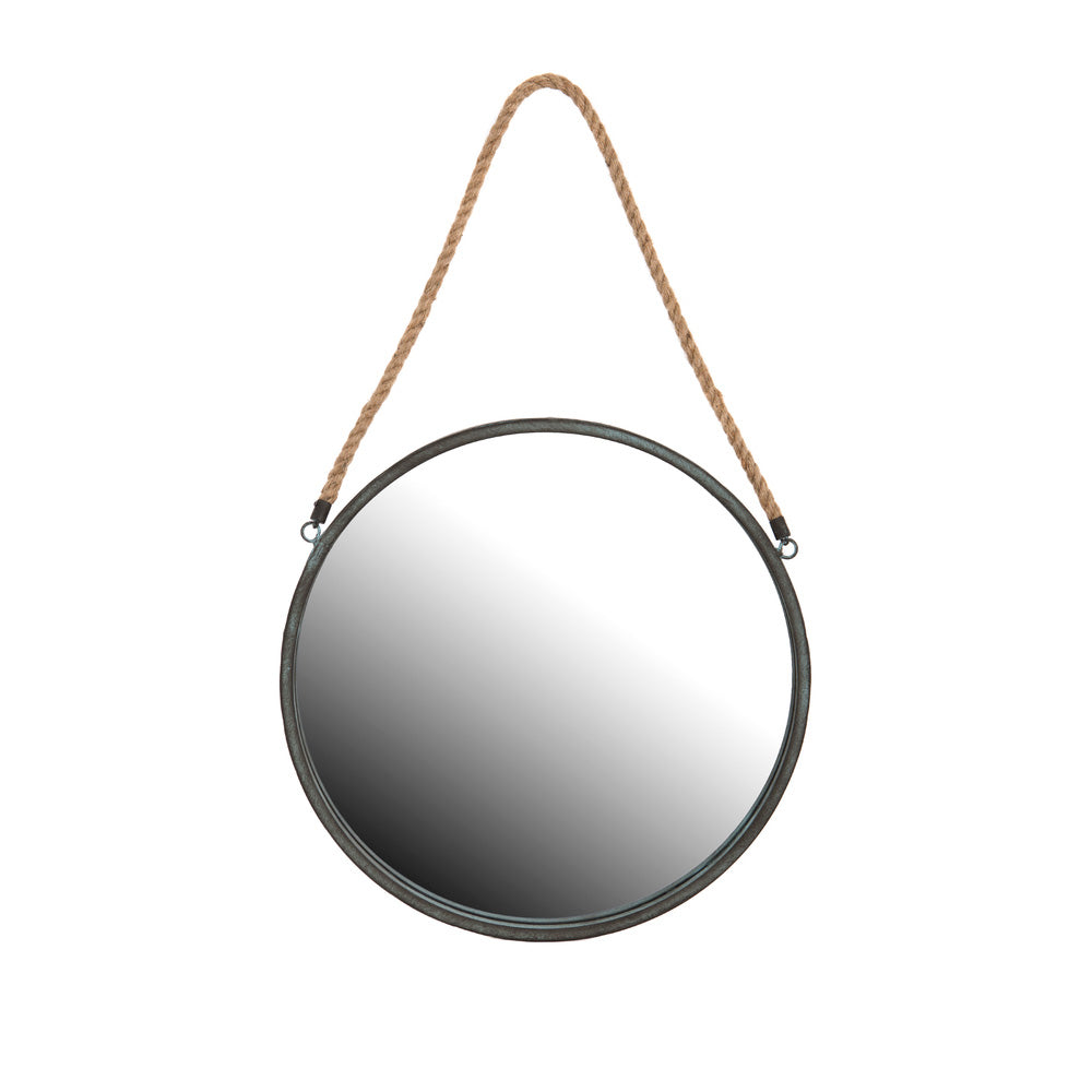 Round Mirror on Rope