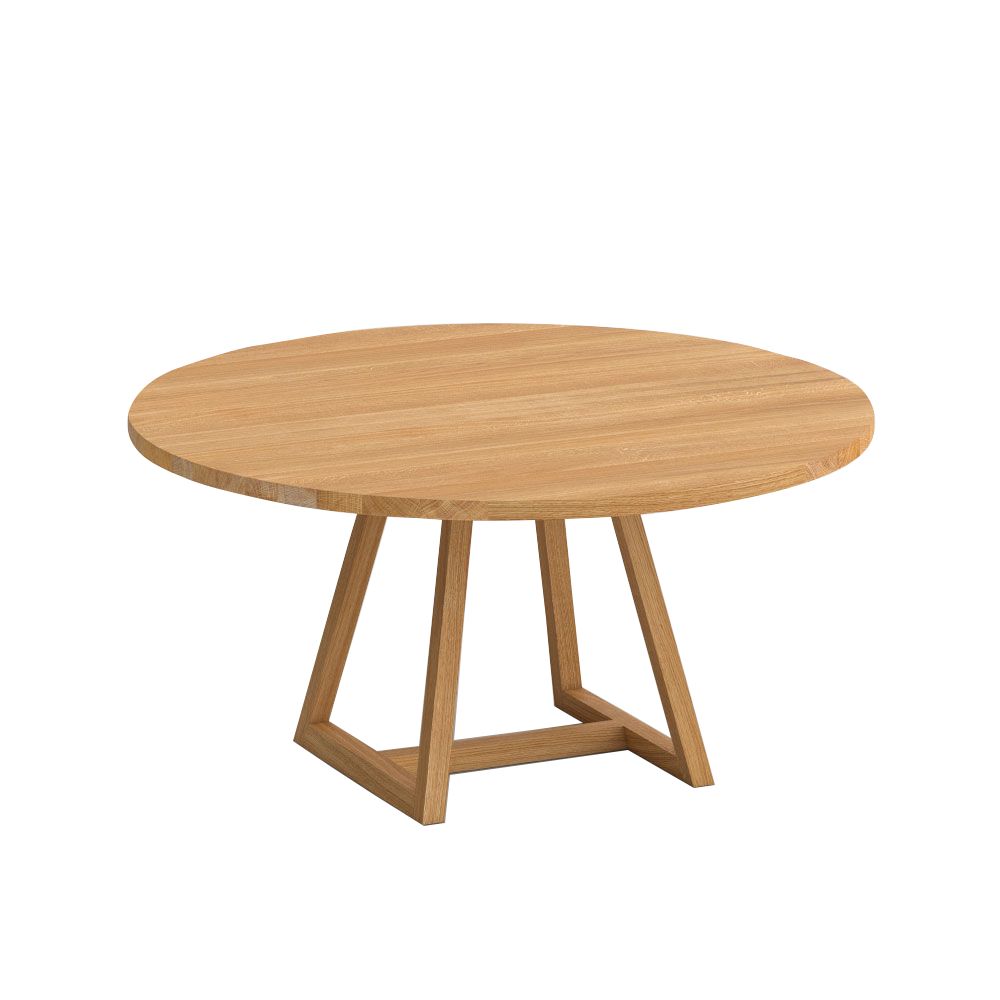 The Margo oak dining table with central frame base