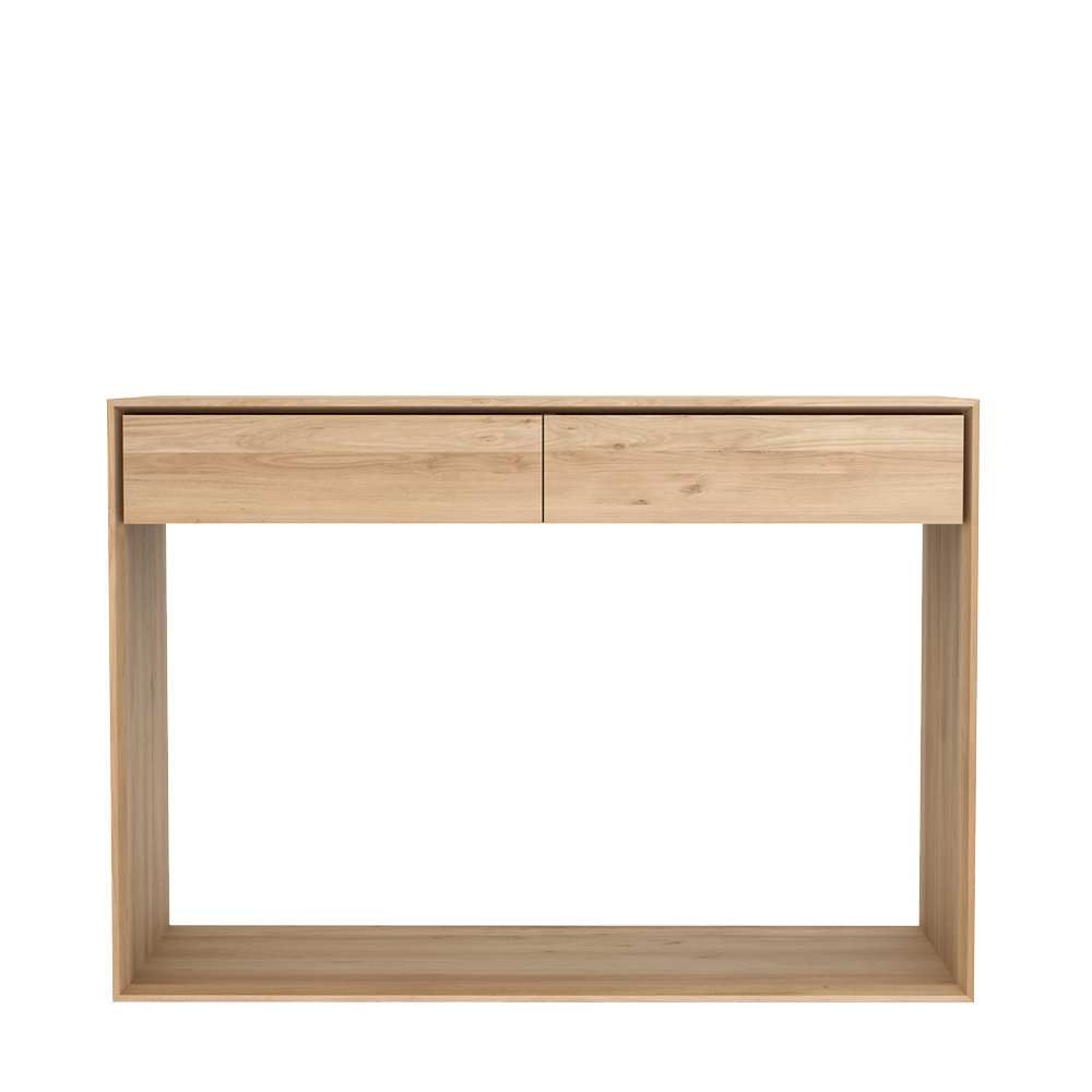 Nordik Oak Console Table