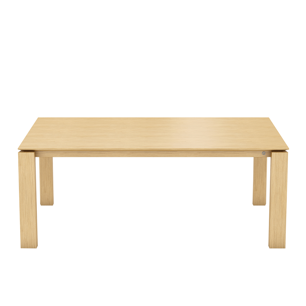 oak oxford table with wood top and angled legs and underside of top