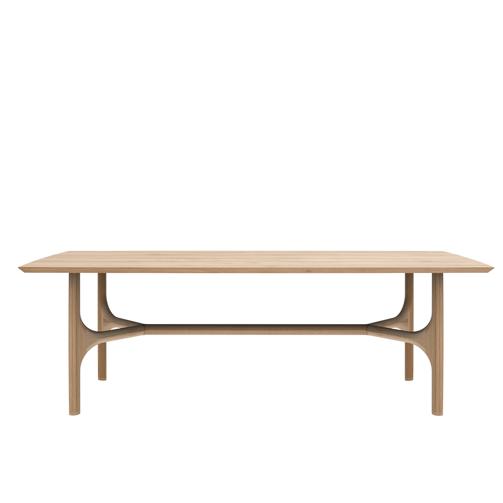 oak n1-dining table with rounded refectory style leg