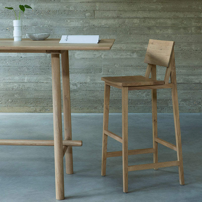 end of profile high meeting table with high bar chair