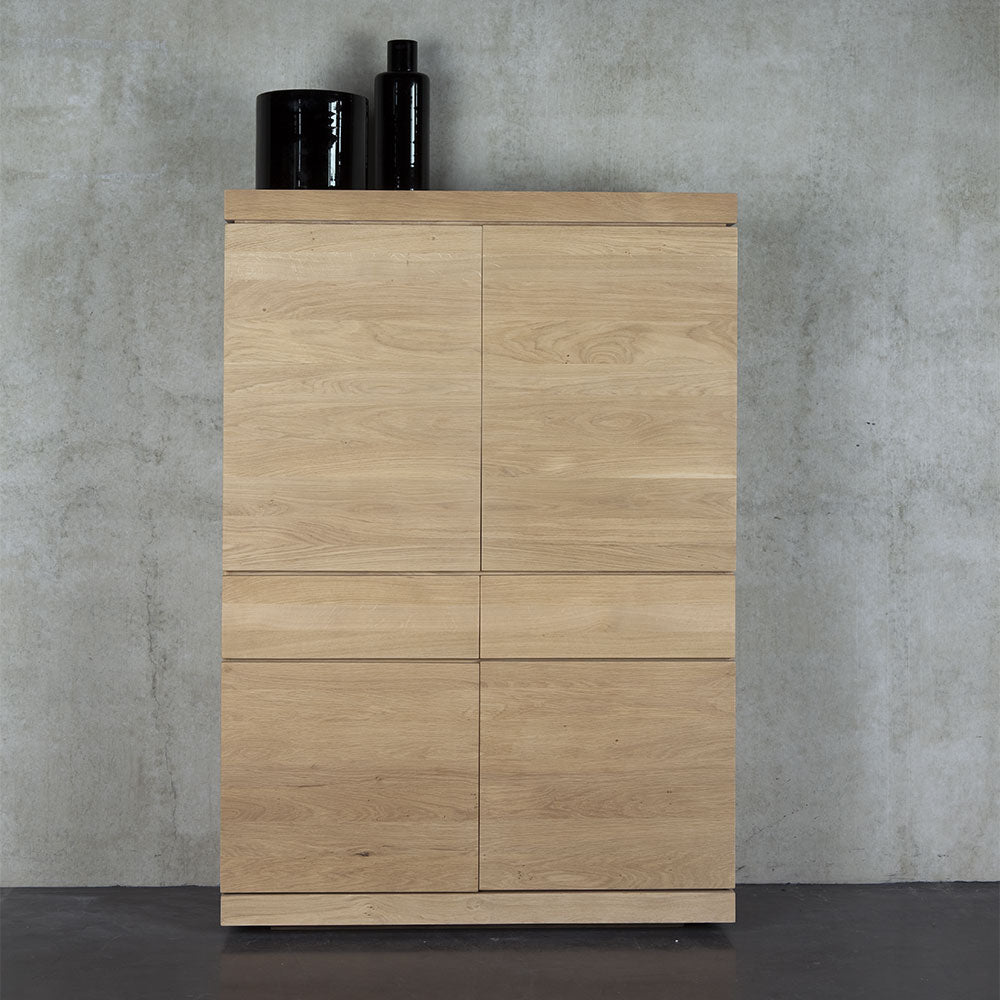 storage cupboard with the BGR flat front and handle less design.