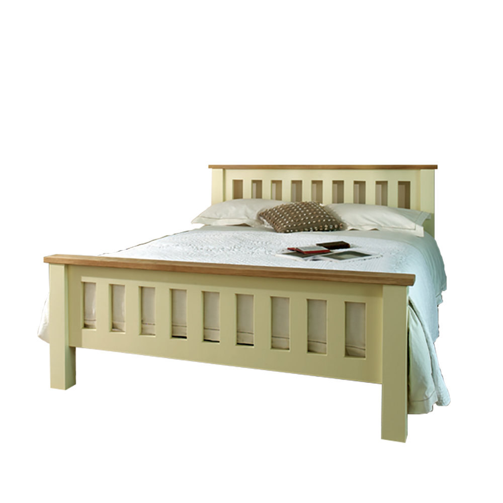 Provence Painted Slatted Bed