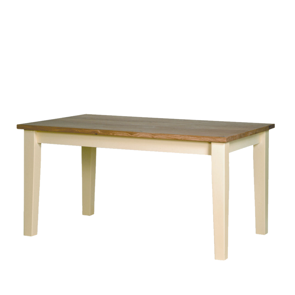 Provence oak top dining table with tapered legs