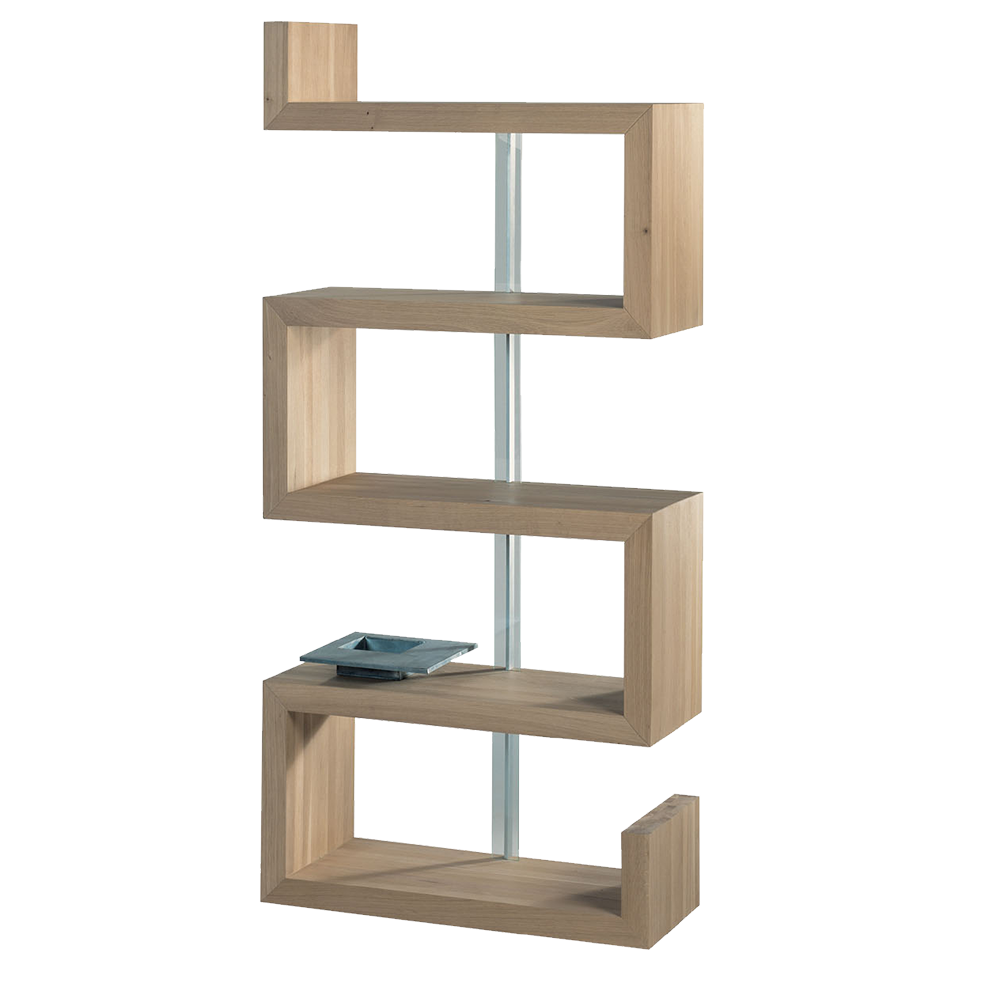 Sopwell Oak Reflex Display Bookcase - left