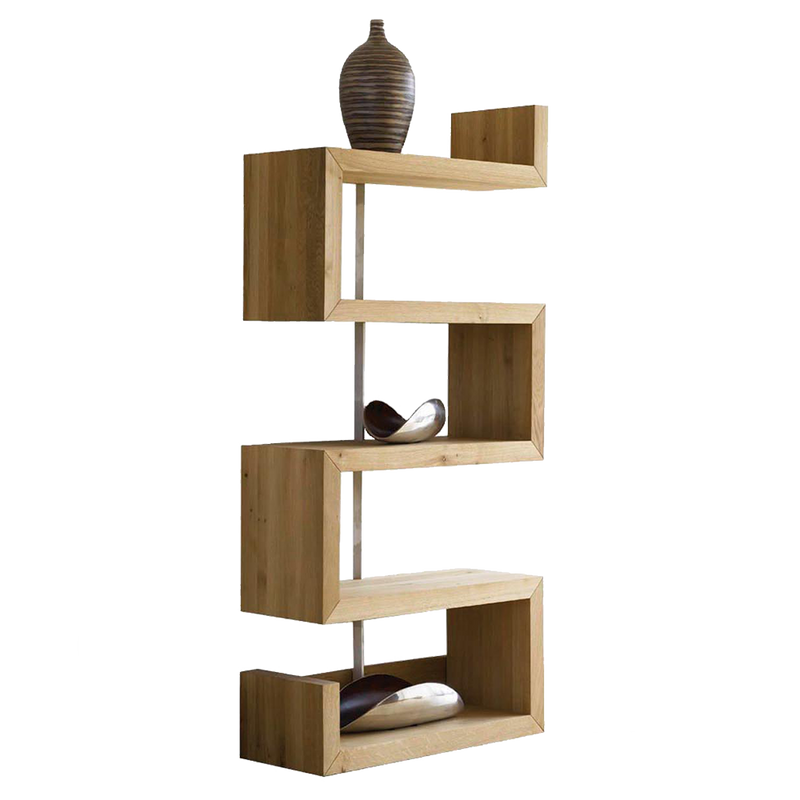 Sopwell Oak Reflex Display Bookcase - right