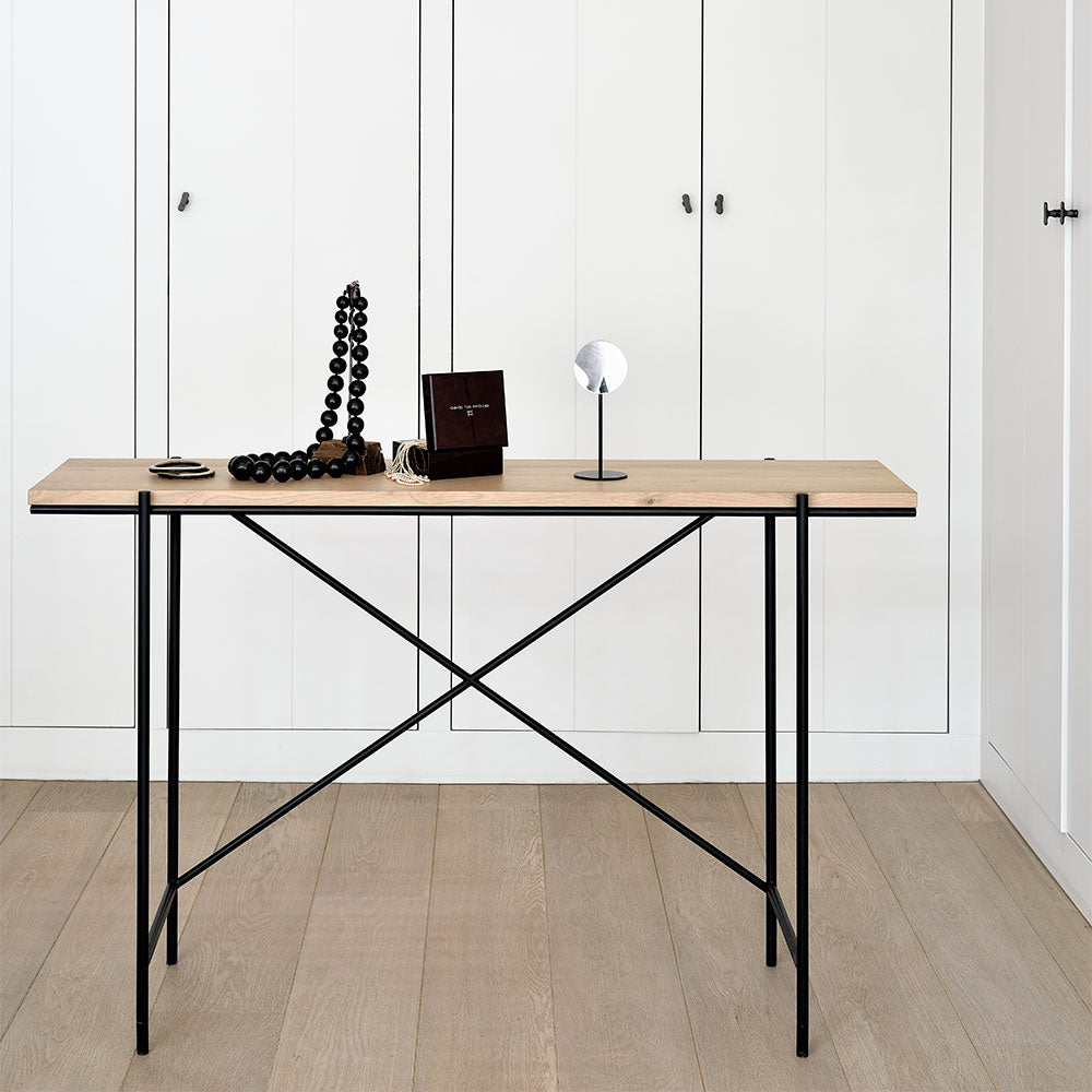 Riva Oak Desk Console
