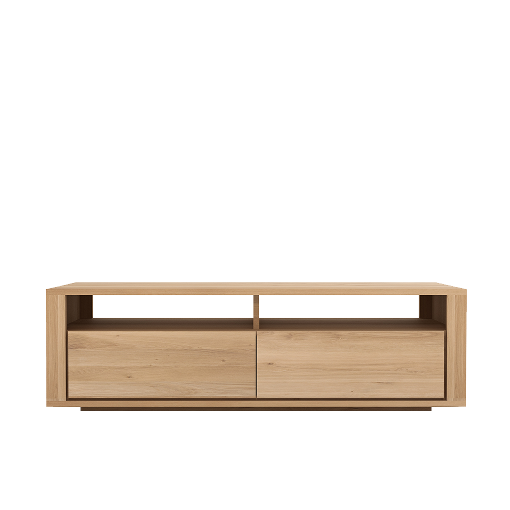 flat handle less design drawers , open top with open back for cables and leads.