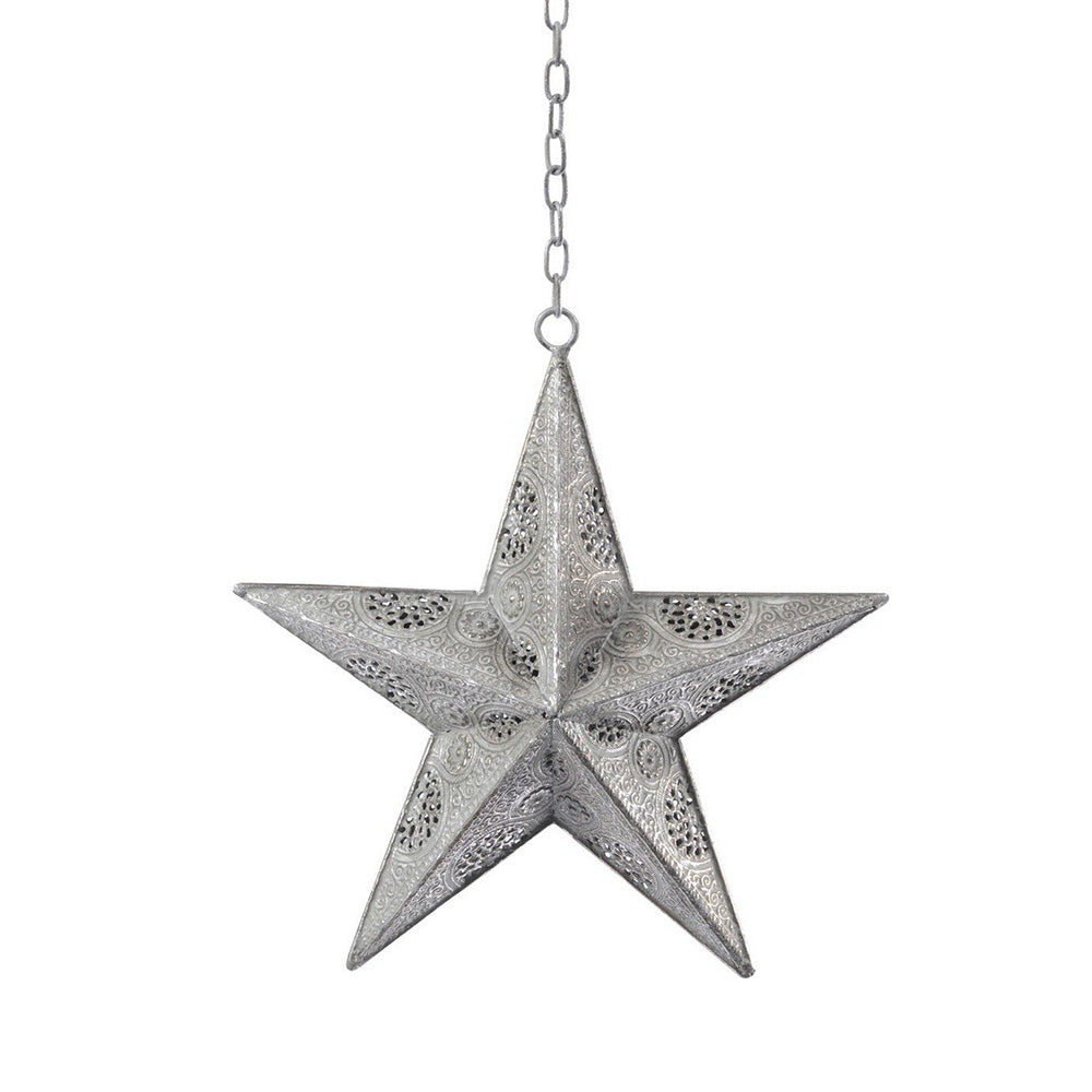 Filigree Verdigris Hanging Star