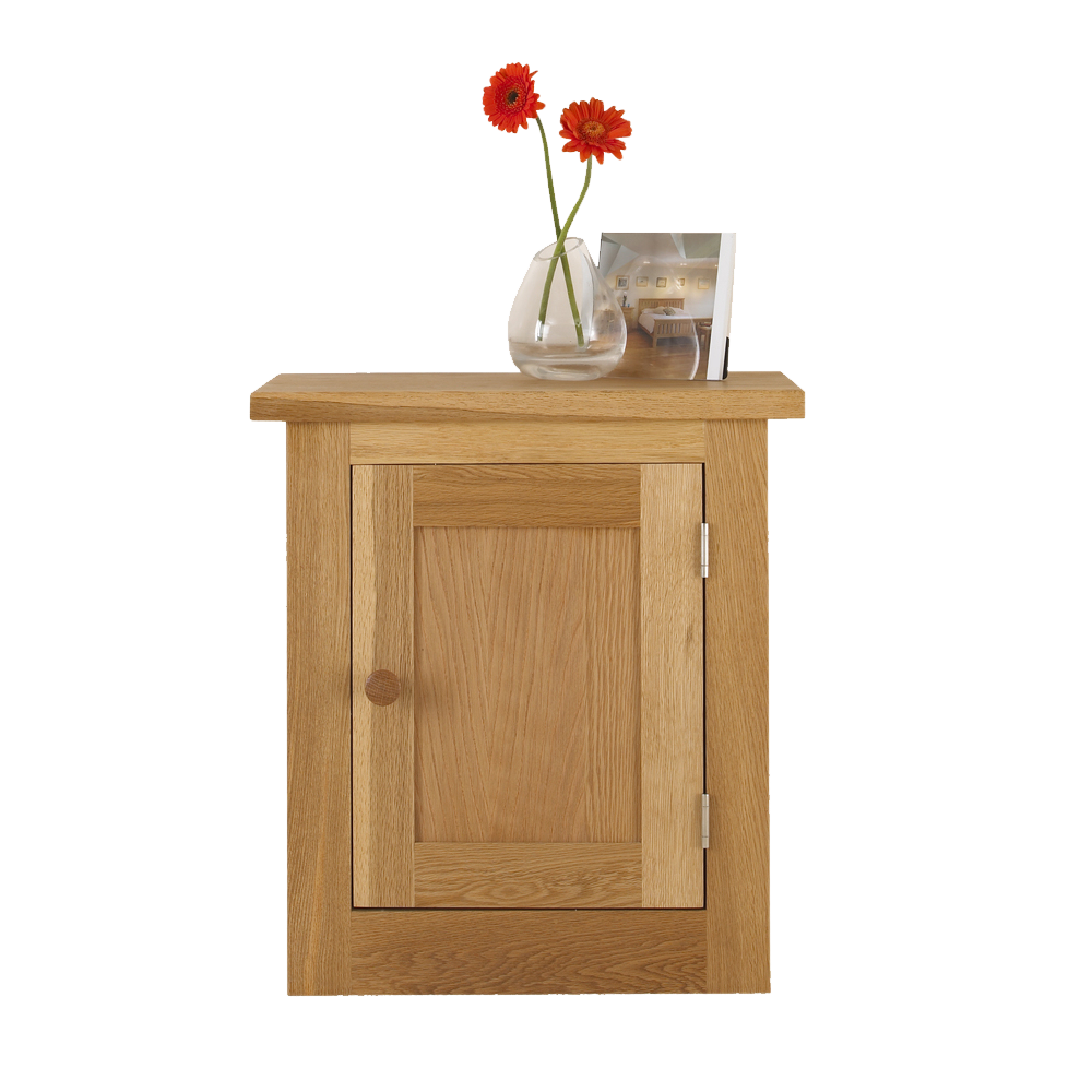 Studio Oak Full Door Bedside Cabinet