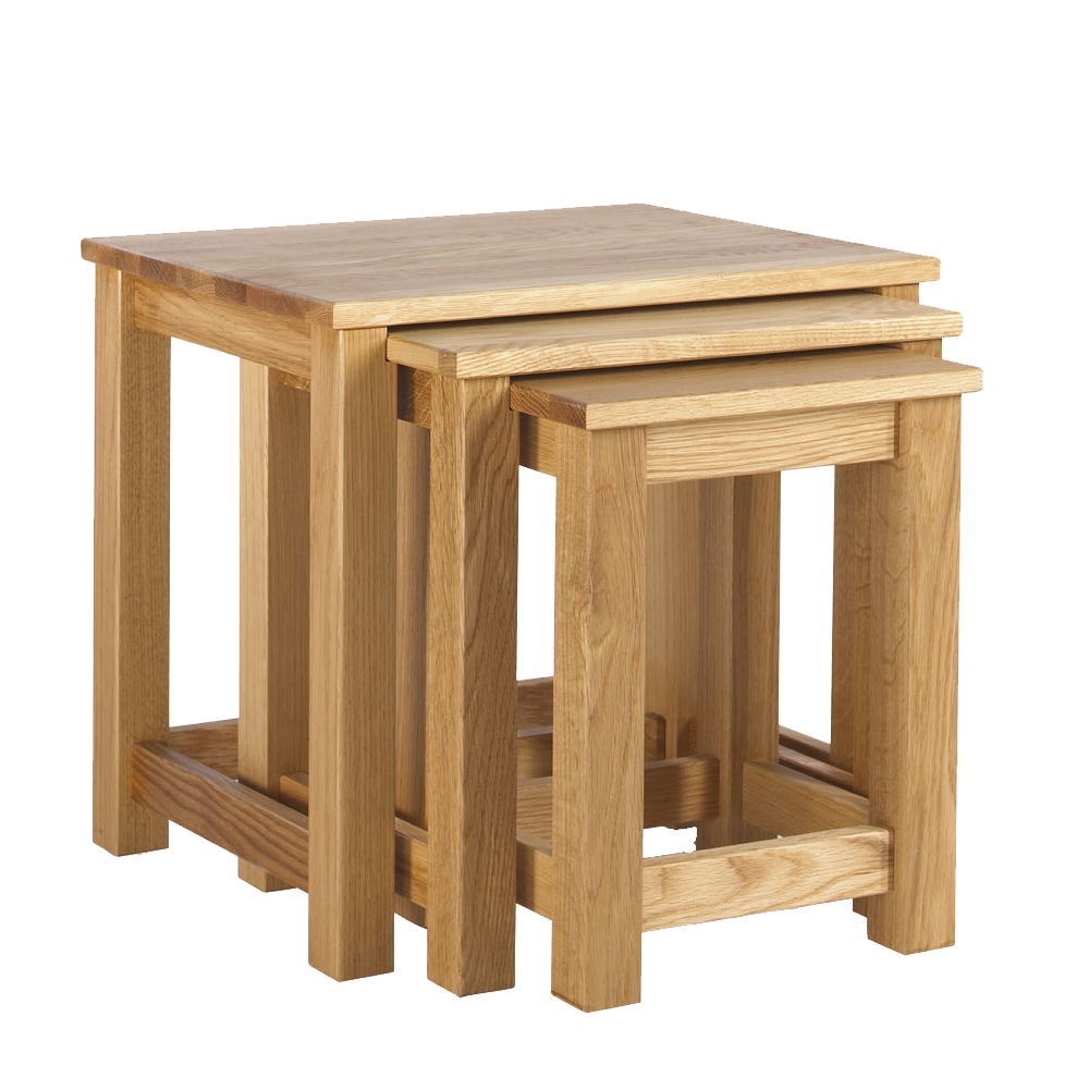 studio oak nest of 3 tables shown together