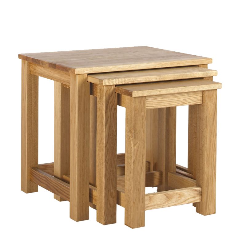 Studio Solid Oak Nest Of Tables