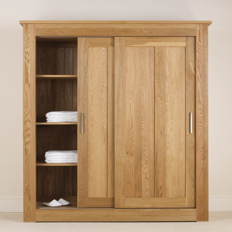 Studio Sliding Door Oak Wardrobe
