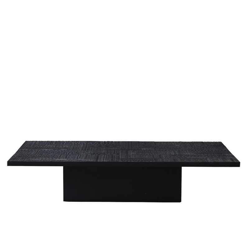 Antix Dark Teak Block Coffee Table