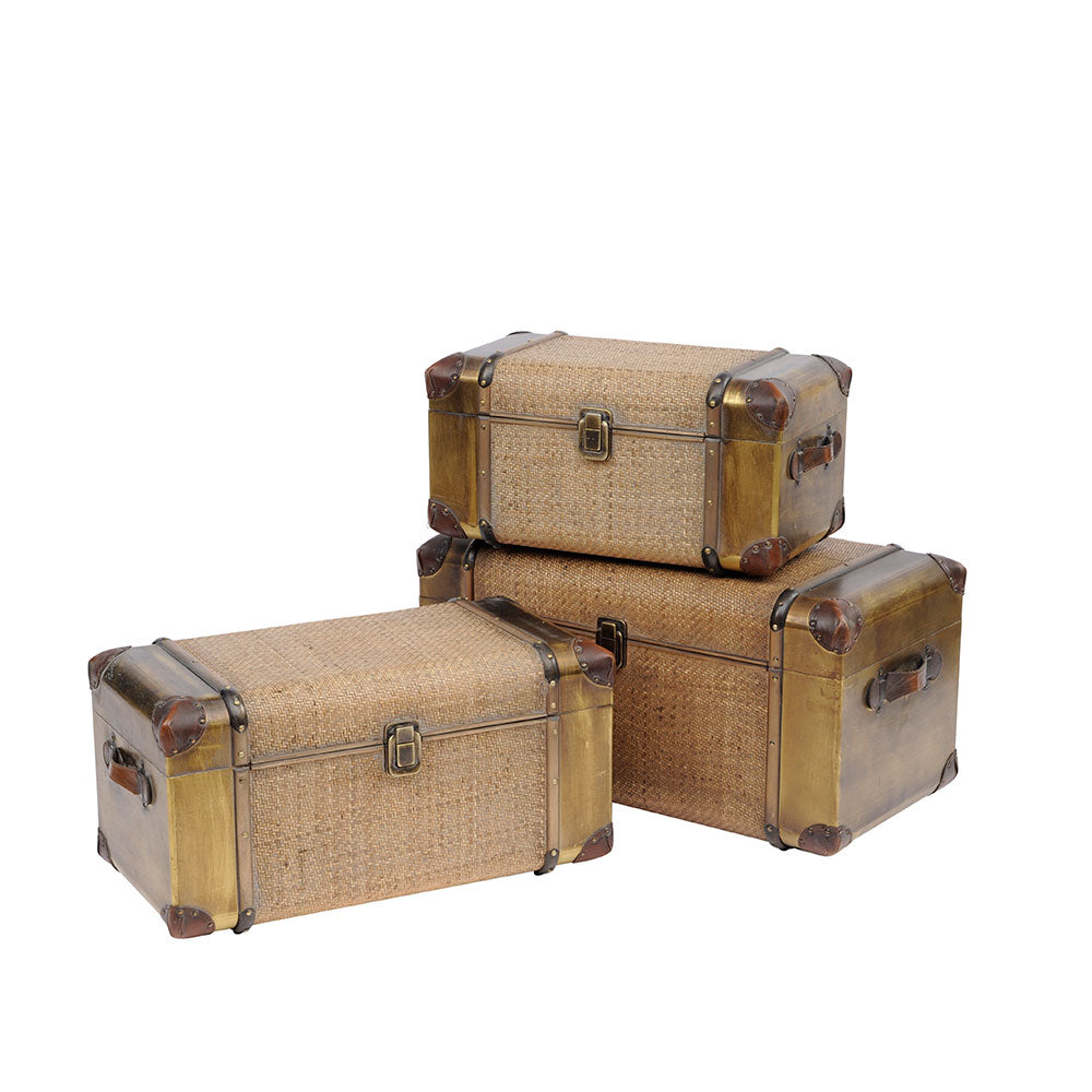 Gold Rattan Trunks