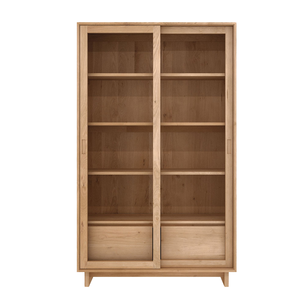 Wave Oak Bookcase