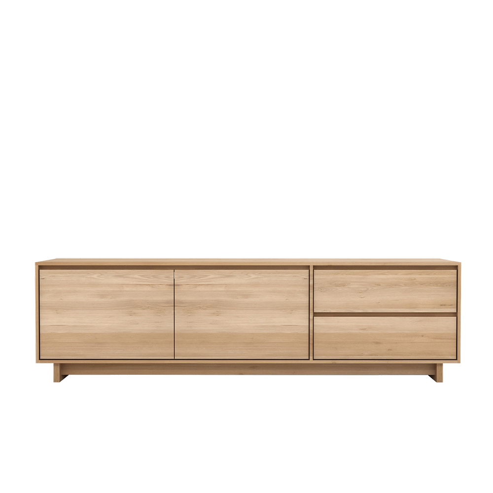 Oak Wave TV Cupboard 2 Door
