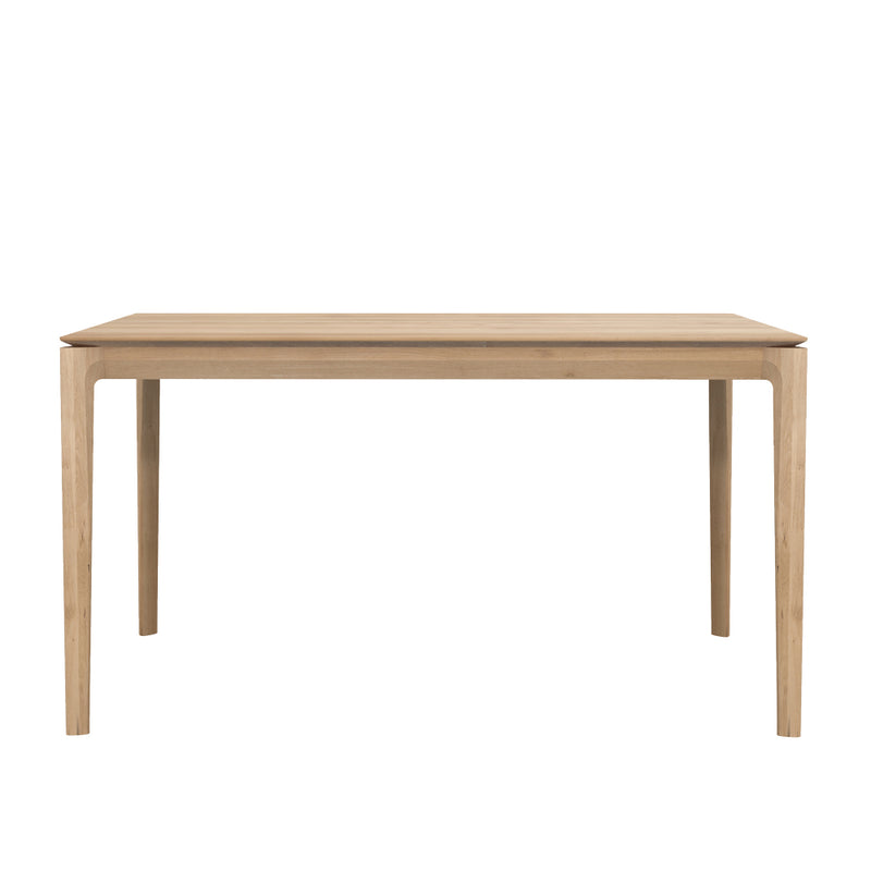B1 oak kitchen table , tapered edge to wood top,over rounded legs.