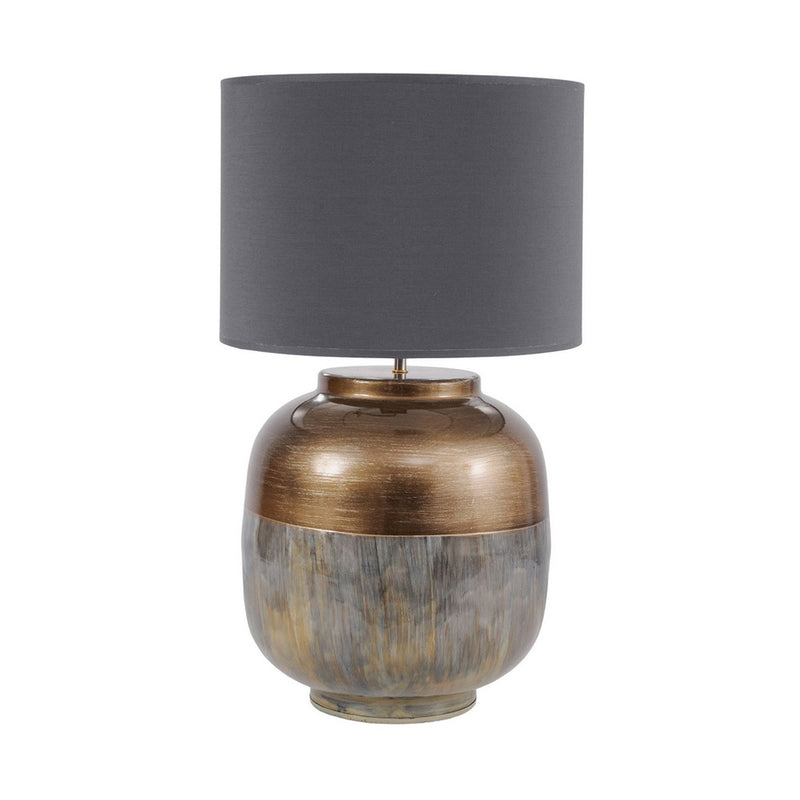 Brass and Enamel Table Lamp