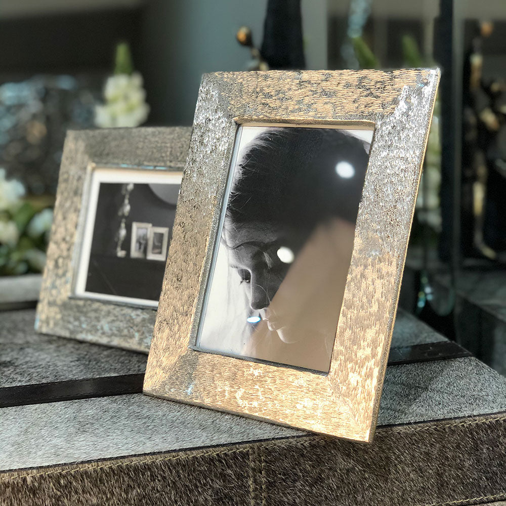 Brushed  Aluminium Photo Frame
