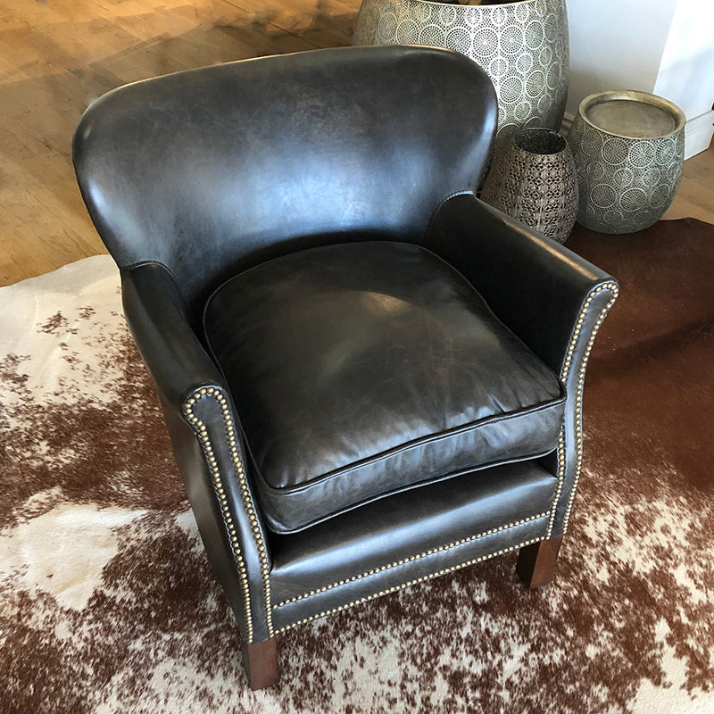 Camden Studded Leather Chair
