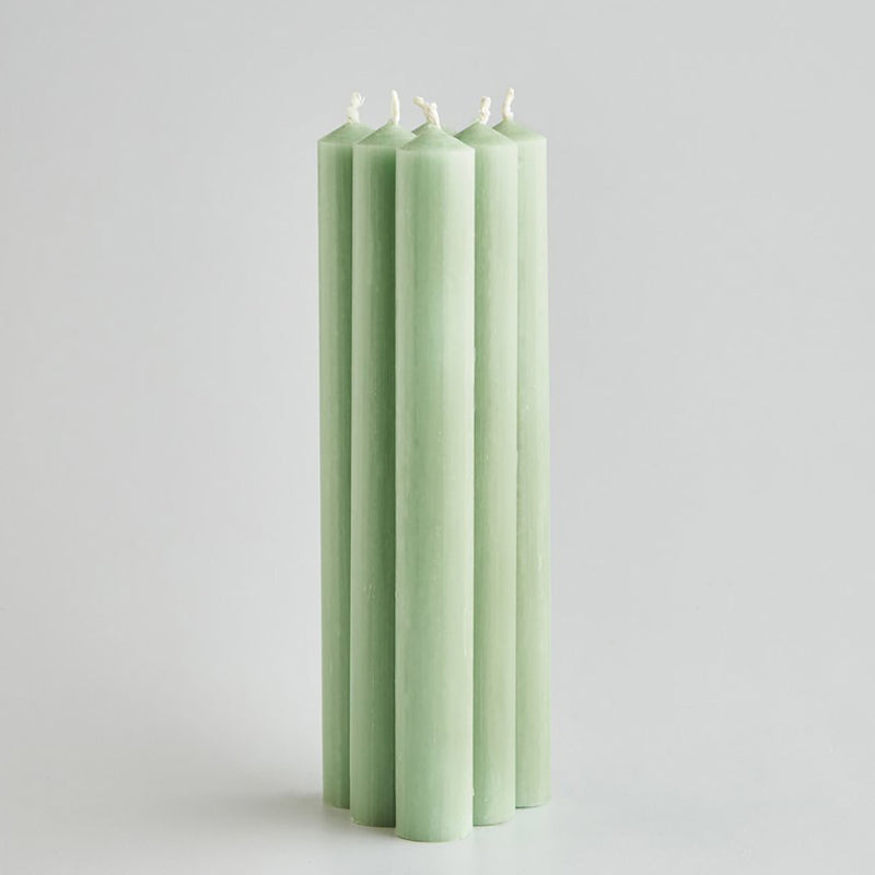 Light Green Dinner Candles