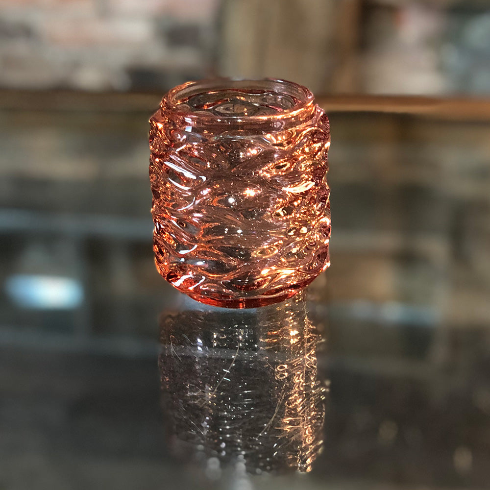 Coral Glass Votive