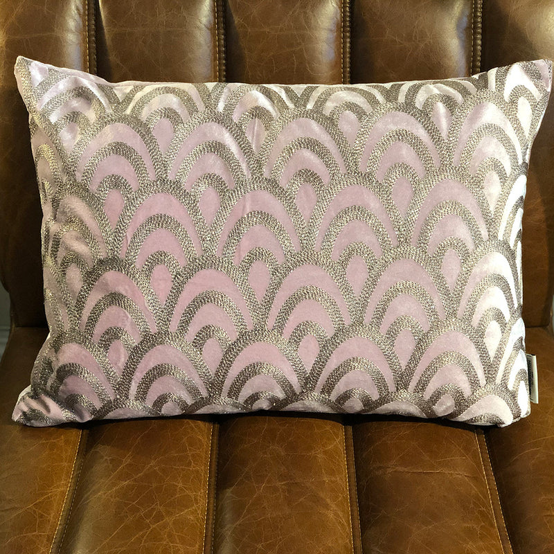 Deco Pink Velvet Cushion