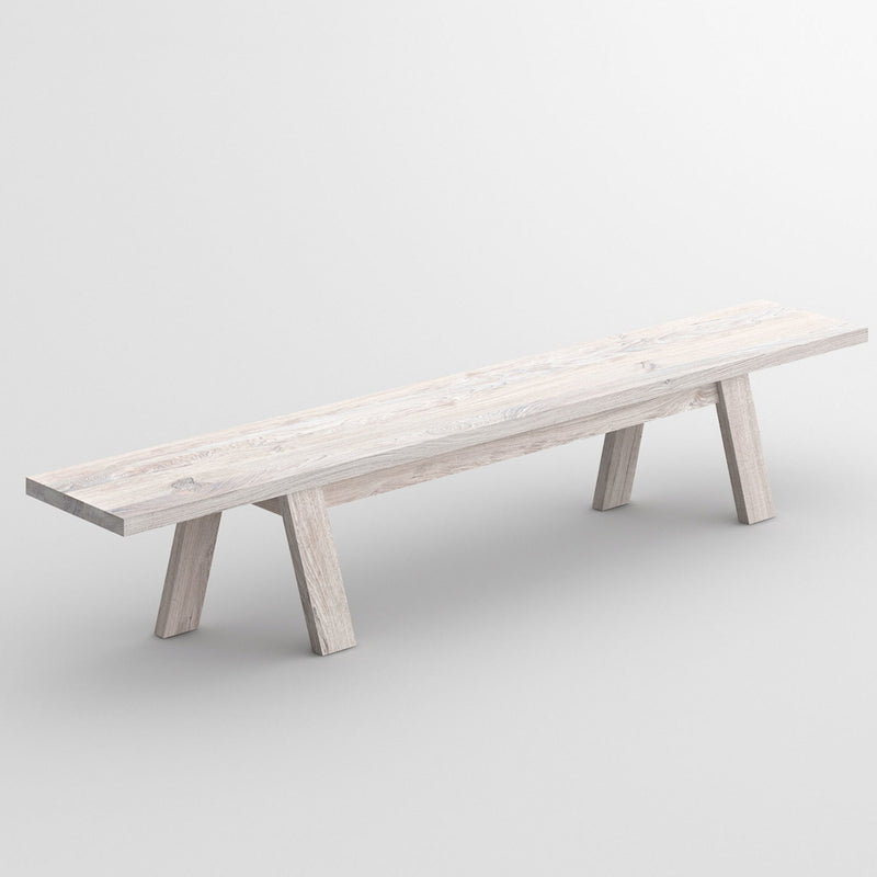 Dash bench in white chalked Oak