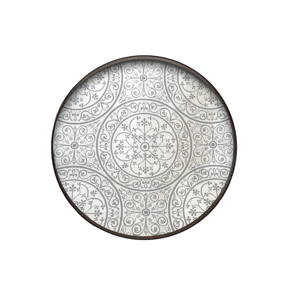 Moroccan pattern mirror large tray