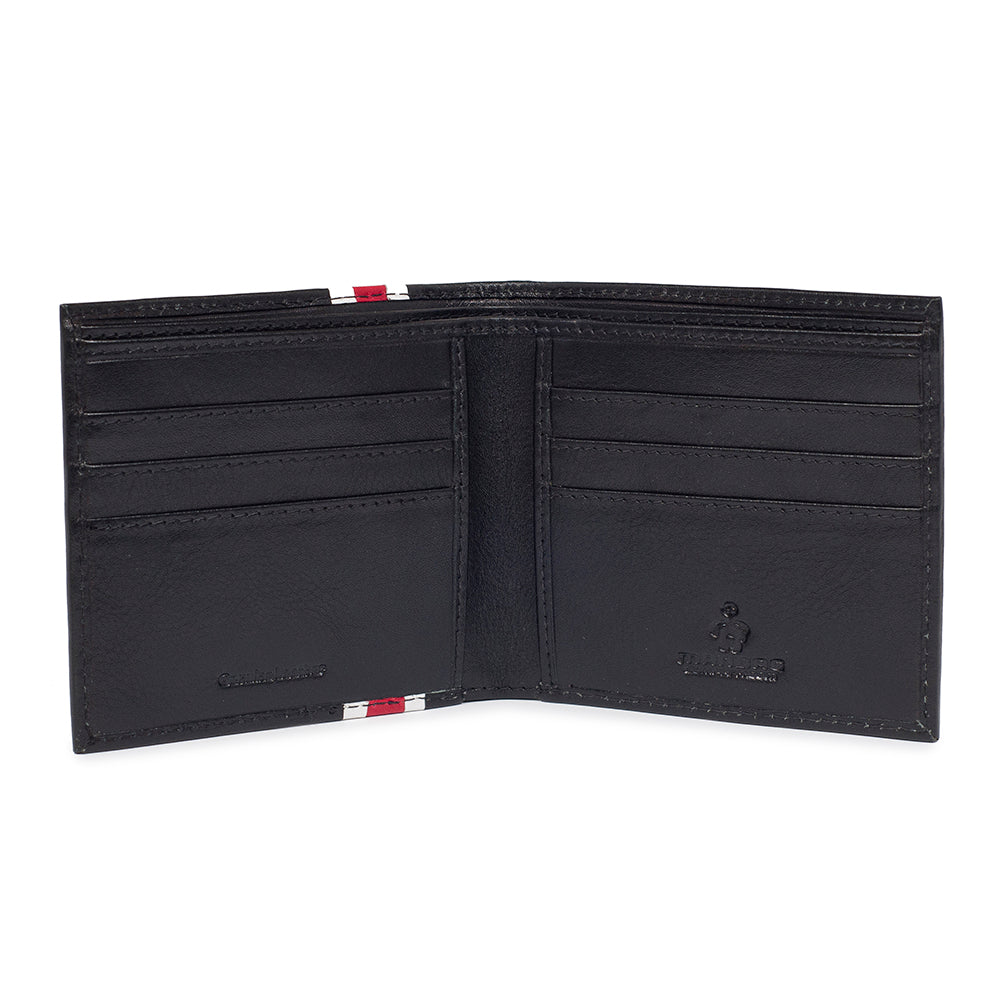 Granby folding wallet inner showing card holder slots and notes compartment.