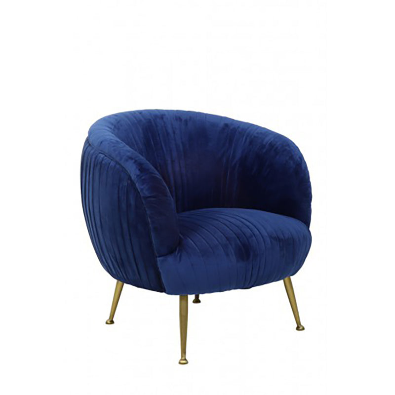 blue velvet chair, velvet fabric in electric blue