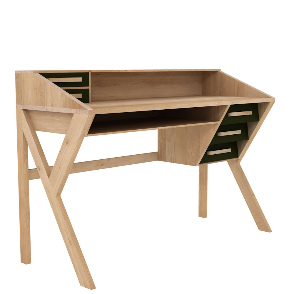 desk or dressing table seen from the side- freestanding.
